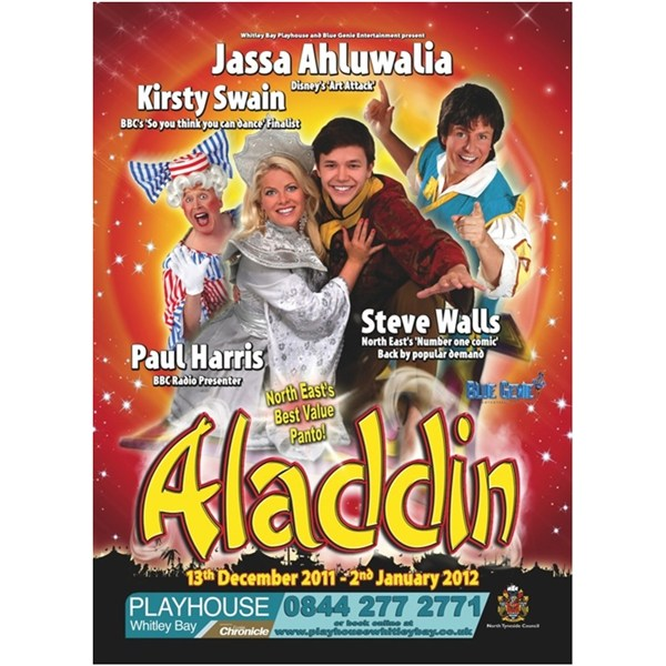 Aladdin - Starring Jassa Ahluwalia, Kirsty Swain, Steve Walls and Paul Harris
