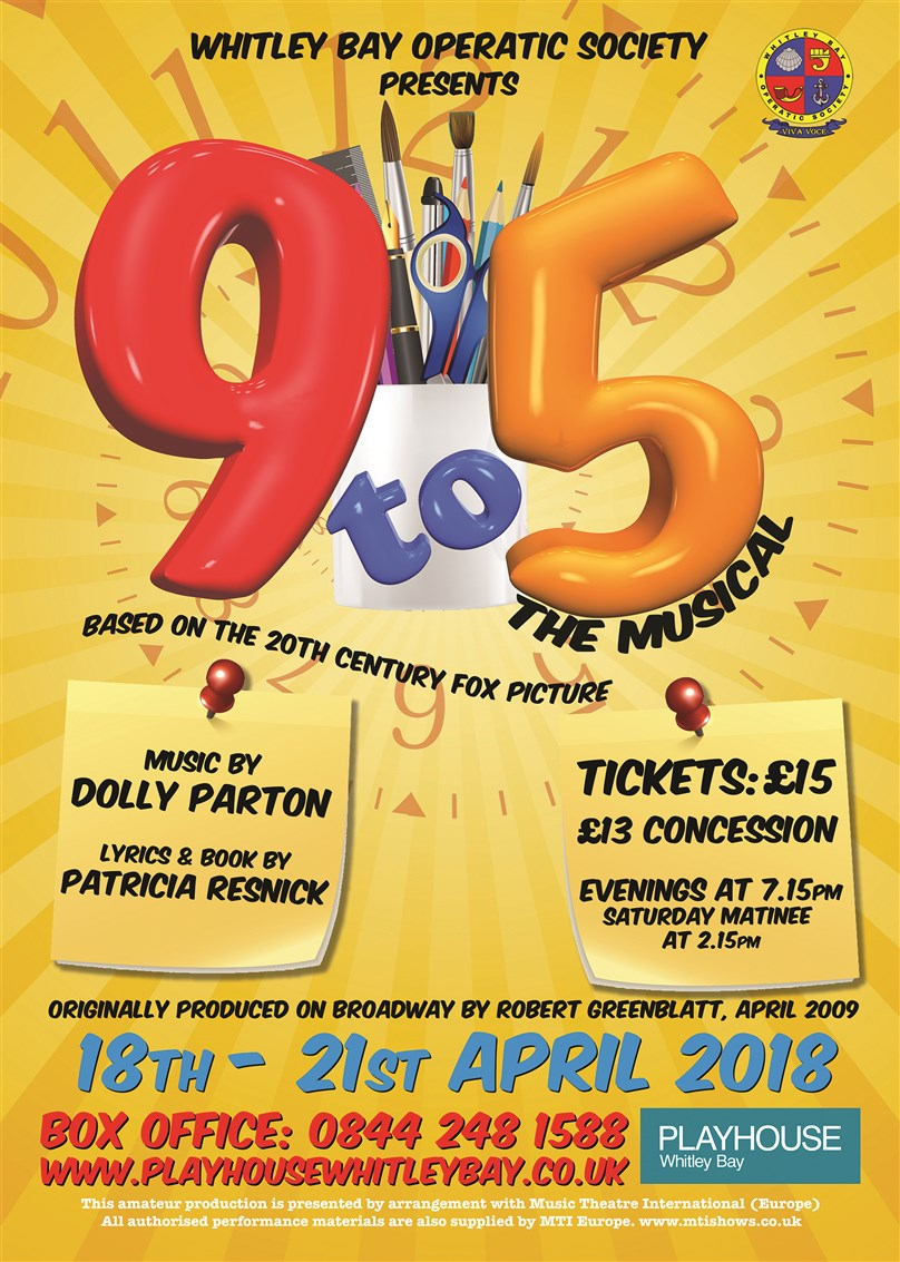Whitley Bay Operatic Society present '9 to 5: The Musical'
