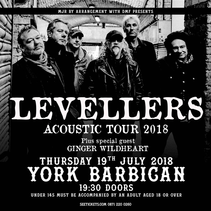 The Levellers (Acoustic) + Ginger Wildheart (Acoustic)
