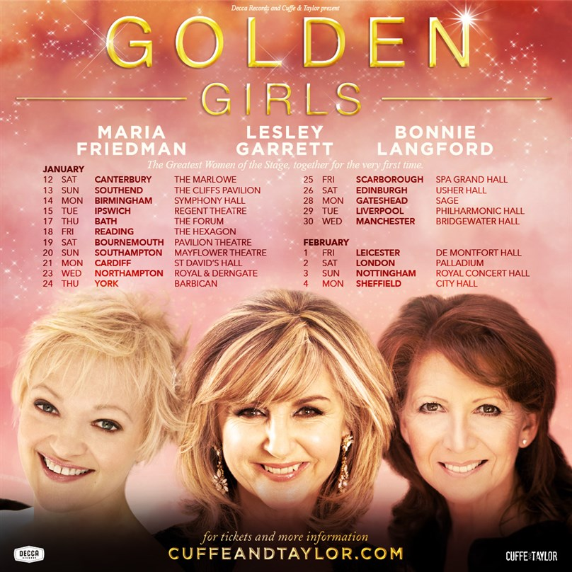 Golden Girls – with Maria Friedman, Lesley Garrett and Bonnie Langford