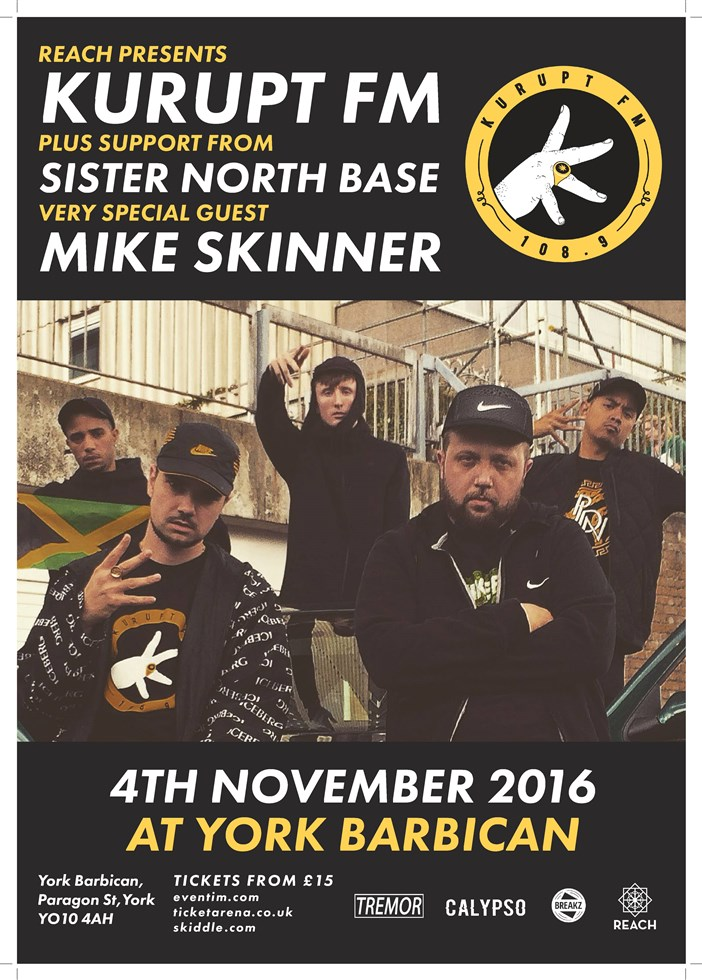 Kurupt fm w mike skinner york barbican for Balcony unreserved