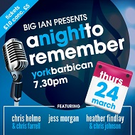 Big Ians Presents 'A Night To Remember'