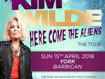 Kim Wilde brings her Here Come The Aliens tour to York in 2018!